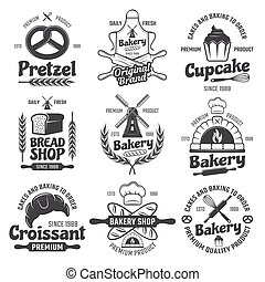 Bakery Black White Emblems