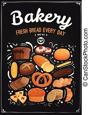 Bakery Chalkboard Illustration