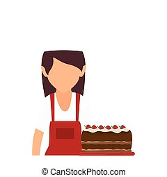 bakery chef with cake
