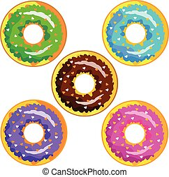 bakery, chocolate, cream, delicious, design, donut, food, illustration, pink, snack, sugar, sweet, vector, art, biscuit, coffee, color, cupcake, donuts, doughnut, flat, fresh, icing, icon, isolated, orange, tasty, texture, white, breakfast, cake, cartoon, colorful, dessert, glazed, pastry, set, background, cute, decoration, pattern, seamless
