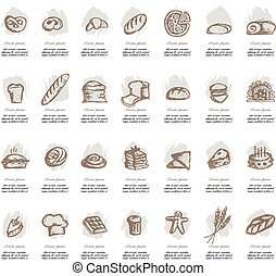 Bakery collection, sketch for your design