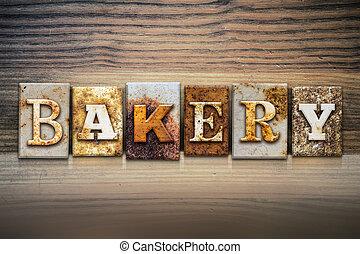 Bakery Concept Letterpress Theme