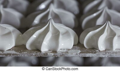 Bakery cooling racks with finished marshmallow zephyr at...