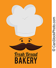 Bakery design over yellow background, vector illustration