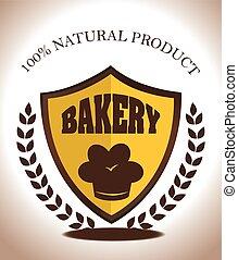 Bakery design over white background vector illustration -...