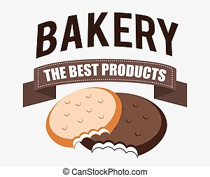Bakery design over white background vector illustration