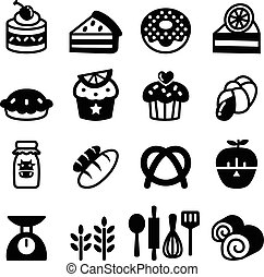 Bakery & Dessert icon set