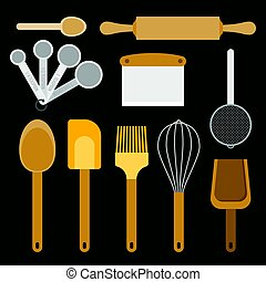 bakery equipment and utensils, such as measurement spoon,...