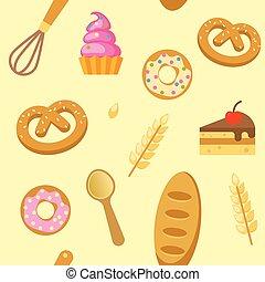 Bakery Flat Seamless Pattern