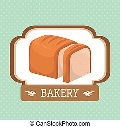 Bakery food and gastronomy graphic design, vector...