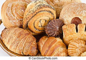 Bakery foodstuffs set