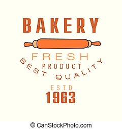 Bakery fresh product, best quality, estd 1963 logo template bread shop badge retro food label design vector Illustration