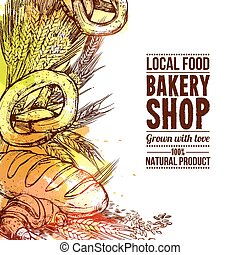 Bakery Hand Drawn Illustration