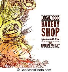 Bakery Hand Drawn Illustration