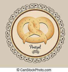 bakery icon - Illustration of pretzel and food, bakery icon,...