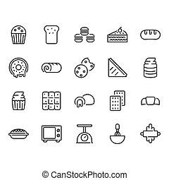 Bakery icon set. Vector illustration