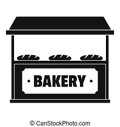 Bakery icon, simple style.