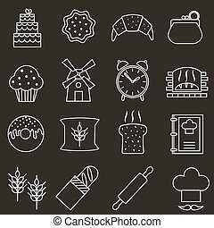 Bakery icons.