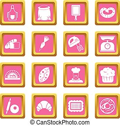 Bakery icons pink