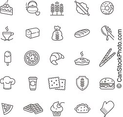 bakery icons, vector stock