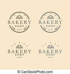 Bakery Logo Vintage Design Vector Template