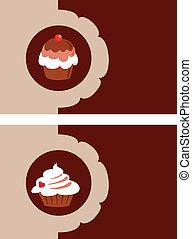 bakery menu template design, vector illustration