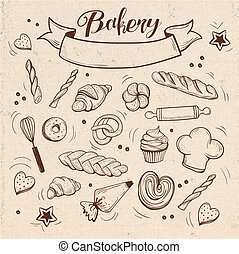 bakery pastry vintage theme