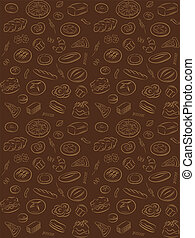 bakery pattern - vector pattern of seamless background with...