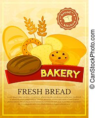 Bakery poster, vector illustration