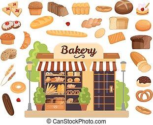 Bakery Products Flat Set
