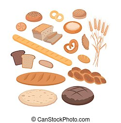 Bakery Products Set Flat Design