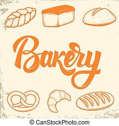 Bakery. Set of bread icons. Design elements for logo, label, emb