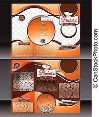 bakery shop brochure template design vector illustration