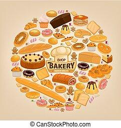 Bakery shop cakesand sweet pastry desserts - Bakery...