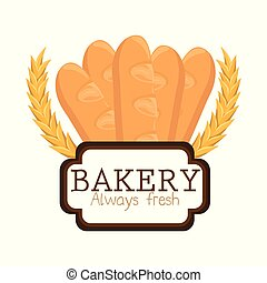 bakery shop label icon