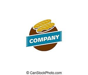 Bakery Shop Logo Design Element in Vintage Style for Logotype, Label, Badge and other design, Bread retro vector illustration