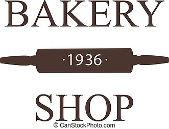 Bakery Shop logo, label, badge, emblem vector template. Vintage style Bakery logotype on white background