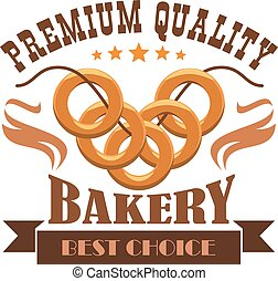 Bakery shop menu sticker, emblem, business label