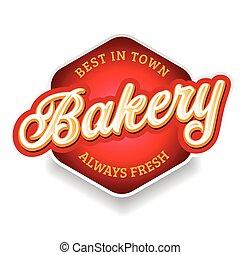 Bakery sign label lettering vintage