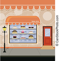 Bakery. - Storefront bakery adjacent city streets.