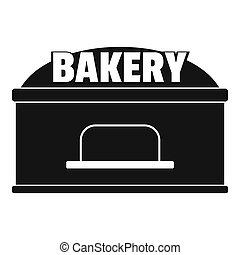 Bakery trade icon, simple style.