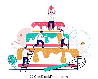 Bakery vector concept for web banner, website page
