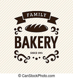 Bakery - Vintage bakery label, vector illustration