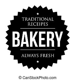 Bakery vintage black stamp