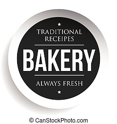Bakery vintage black stamp sticker