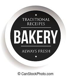 Bakery vintage black stamp sticker