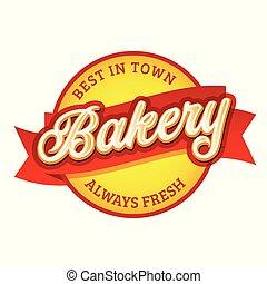 Bakery vintage sign label retro