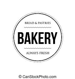 Bakery vintage stamp black sign