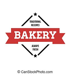 Bakery vintage stamp sticker