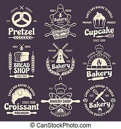 Bakery Vintage Style Emblems